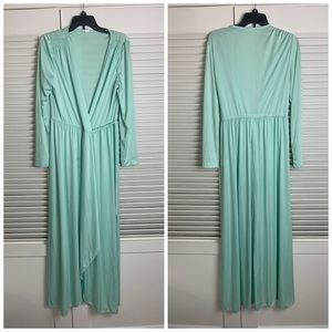 Vintage 18 Light Turq wrap barber dress